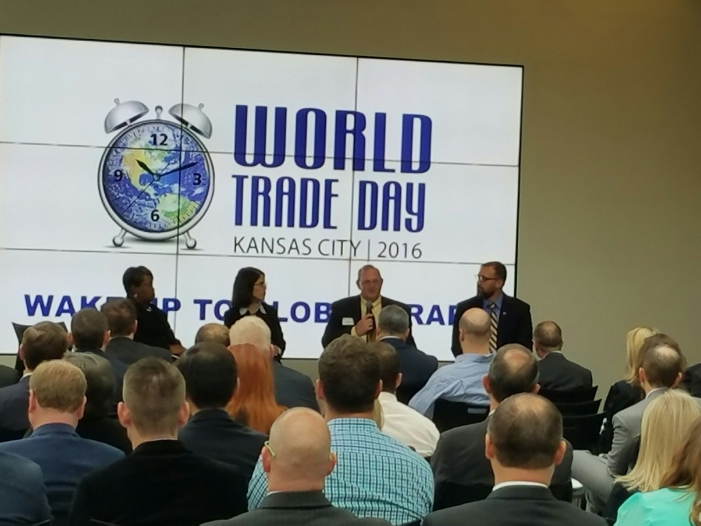 Sr. Principal Mike Cummings presenting at World Trade Day Kansas City